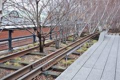 Alta linea parco nuovo Jork Fotografia Stock Libera da Diritti