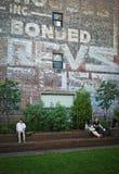 Alta linea parete Fotografia Stock Libera da Diritti