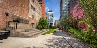 Alta linea passeggiata nel pomeriggio, Chelsea, Manhattan, New York Immagine Stock