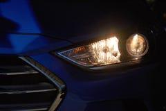 Alta luce dell'automobile moderna Fotografia Stock Libera da Diritti