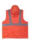 Alta maglia gialla di visibilità e casco protettivo Fotografia Stock