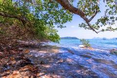 Alta marea al paesino di pescatori Fotografia Stock