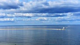 Alta marea dell'estuario di New York Long Island Immagini Stock Libere da Diritti