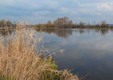 Alta marea di fonte sul fiume il Teterev Fotografia Stock
