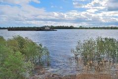 Alta marea di fonte sul fiume Irtysh Immagine Stock
