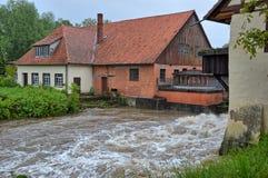 Alta marea ed inondazione Fotografia Stock