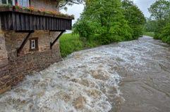 Alta marea ed inondazione Immagine Stock