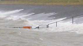 Alta marea estrema nei Paesi Bassi Fotografia Stock