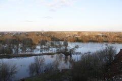 Alta marea in fiume Immagine Stock Libera da Diritti