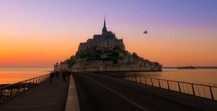 Alta marea a Mont Saint-Michel Immagine Stock Libera da Diritti