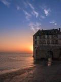 Alta marea a Mont Saint-Michel Fotografia Stock Libera da Diritti