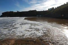 Alta marea a re Edwards Bay Tynemouth Fotografia Stock