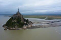 Alta marea sul castello Fotografia Stock Libera da Diritti
