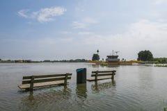 Alta marea sul IJssel Fotografia Stock