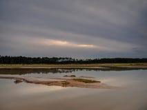 Alta marea sulla spiaggia di Holkham Immagini Stock