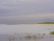 Alta marea sulla spiaggia di Holkham Fotografie Stock Libere da Diritti