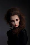 Alta moda, ritratto di una donna Fotografia Stock