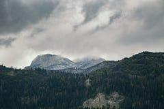 Alta montagna al giorno nuvoloso Bello paesaggio della natura Fotografia Stock Libera da Diritti