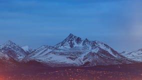 Alta montagna bianca di Anchorage, del centro Fotografia Stock Libera da Diritti