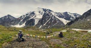 Alta montagna con il ghiacciaio Immagine Stock Libera da Diritti