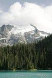 Alta montagna con il ghiacciaio ed il lago Fotografia Stock Libera da Diritti