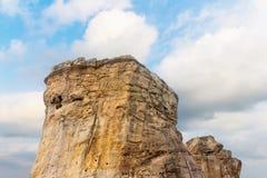 Alta montagna con la nuvola Fotografia Stock Libera da Diritti