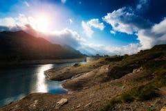 Alta montagna della diga Immagini Stock Libere da Diritti