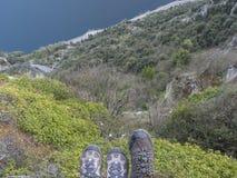 Alta montagna della forma di vista Fotografia Stock