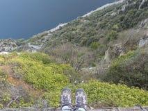 Alta montagna della forma di vista Immagini Stock