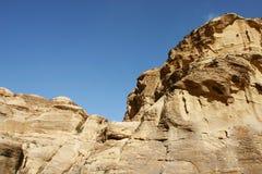 Alta montagna della roccia di PETRA Giordano A Fotografia Stock Libera da Diritti