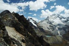 Alta montagna delle Cordigliera Fotografie Stock
