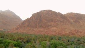 Alta montagna di atlante e le rovine nella parte anteriore immagine stock libera da diritti