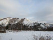 Alta montagna di inverno Immagine Stock