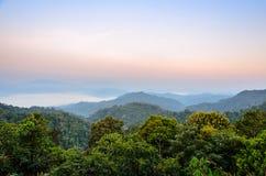 Alta montagna di mattina Immagini Stock Libere da Diritti
