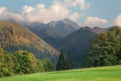 Alta montagna di Tatras dal Nord - picco di Ladovy Fotografia Stock Libera da Diritti