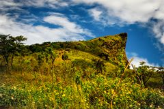 Alta montagna, fondo del paesaggio della natura di Phucheefah Fotografie Stock