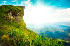 Alta montagna, fondo del paesaggio della natura di Phucheefah Immagini Stock Libere da Diritti