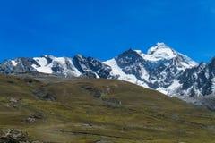 Alta montagna innevata nelle Ande Fotografia Stock