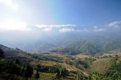 Alta montagna naturale nel Vietnam del Nord nella città del Saba Fotografia Stock Libera da Diritti