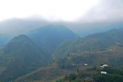 Alta montagna naturale nel Vietnam del Nord nella città del Saba Immagine Stock Libera da Diritti