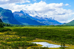 Alta montagna a Patagonia dell'Argentina Immagine Stock