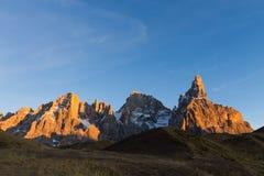 Alta montagna a penombra Fotografie Stock Libere da Diritti