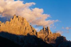 Alta montagna a penombra Immagine Stock Libera da Diritti