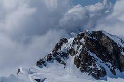 Alta montagna rocciosa Fotografia Stock Libera da Diritti
