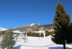 Alta montagna sull'inverno Fotografie Stock Libere da Diritti