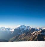 Alta montagna a tempo la mattina Immagini Stock Libere da Diritti