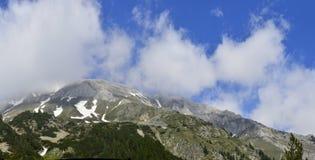 Alta montagna a tempo la mattina Fotografia Stock Libera da Diritti