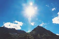 Alta montagna a tempo la mattina Immagine Stock