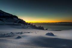 Alta neve del paese Fotografia Stock Libera da Diritti