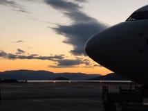 Alta Norway 737 Sun da meia-noite foto de stock